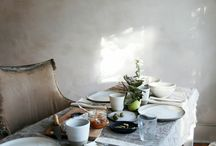 AT THE TABLE | / Inspiration for the table, intimate and timeless.