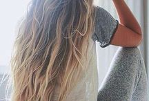 Long and blond hair