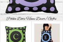 Polka dots home decor gifts
