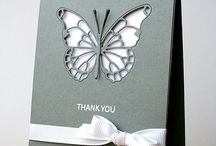 butterfly & flowers cards/tags
