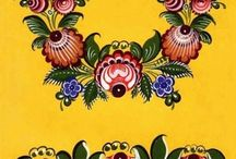 Gorodets Russian folk painting