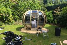 Rotating Pod on Location... / OrnateGarden creates and sells objects of style and beauty which are both timeless and contemporary. The collection consists of garden pods, rotating spheres, garden furniture, lighting and accessories for outside living, the emphasis being on the use of very high quality materials and flawless British craftsmanship.
