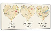 Canvas custom map wall art / Custom canvas map wall art for your home, anniversary, wedding