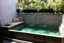 piscina acima do solo