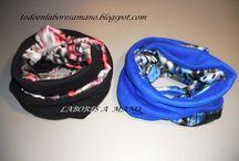 para lucirlas / bufandas en forro polar y tela de seda