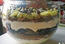 Schicht Dessert mit Trauben