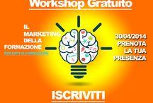Workshop Gratuiti / Raccogliamo tutti i workshop ad entrata libera per la formazione.