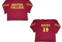 Personalized College Alumni Sweaters / Custom Made sweaters with the college name on the front and your child's name and number on the back.