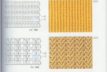 Livros de pontos de crochet.