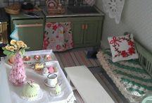 My own dollhouse Villa Rosamunda / Oma nukkekotini, osa itse tehtyä, loput ostettua tai saatua