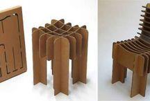 silla de carton
