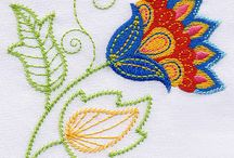Embroidery designs of flowers