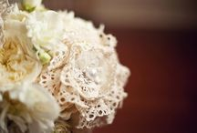 Stunning Lace-Wrapped Wedding Bouquets