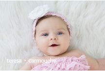 3-4-5 Month Baby Photography Poses / Photography poses for baby between newborn and sitting.
