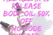 Instagram Post Changes are coming. So we are clearing our inventory and some stuff has to go. Our relax and release herbal body oil. Is 50% off no code needed.