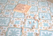 New handmade, hand poured Spanish encaustic tiles / handmade cement tiles from Spain, hand poured and naturally dried
