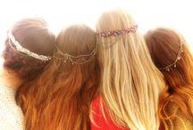 broche. cuivre cheveux