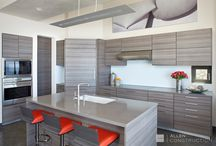 Kitchen Design Ideas / The kitchen is the heart of the home, a place where food is prepared and stored, and a focal point for family and social activity. This board contains examples of various kitchen designs built by Allen Construction. Enjoy!