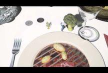 Интерактивный стол в ресторане!! Хорошо придумали, чтобы гости не скучали в ожидании , когда им подадут заказ!!