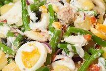 salades met vis