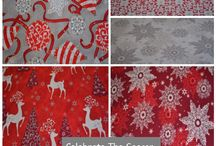 Celebrate The Season By Quilting Treasures / New in for holiday season 2014.  Beautiful Christmas Fabric!