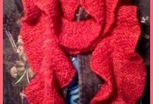 Knitting / It is all my hand knitted items.  These are all hand knitted by me!