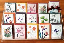 Greeting Cards / Frameable Fine Art Greeting Cards from an Original Brush painting by Nan Rae