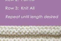 Pale knitting