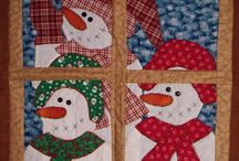 Snowmen Quilts / I love snowmen and snowmen quilts. It's toasty and warm under the quilt so the snowman has to stay on the outside or he will melt. barbara-griffin.artistwebsites.com
