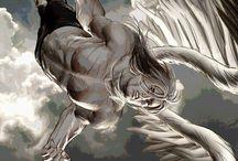 angel flying downwards