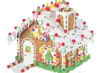 Natal / Casinha de gingerbread