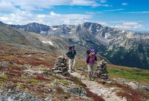 Continental Divide Trail / The Continental Divide Trail is a continuous 3,100- mile-long trail, passing through New Mexico, Colorado, Wyoming, Idaho and Montana. More challenging and primitive than the many other long distance trails.