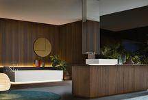 Mobiliario de baño con Milldue / Muebles de baño italiano #Milldue de estilo contemporáneo con la línea NOORTH y més clasico con la línea MITAGE.