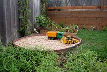 Child friendly backyard