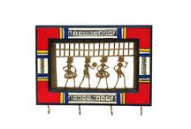 Warli Key Ring Holder ( with 4 Pegs)