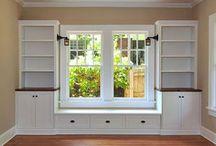 Window bench storage