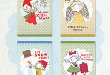 Christmas / Wonderful festive cheer from Rosie and Radish Land! Buy them now from www.rosieandradish.com
