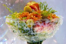 Under Water Bouquet / Designed by Floristmeister Stefan Prinz für den Fachverband Deutscher Floristen. Dieser ausgefallene Strauß wurde im April 2015 auf der Hortiflorexpo in Shanghai präsentiert.