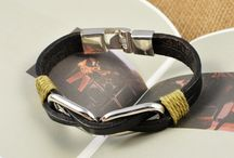 Dazzling Leather Bracelets For Men By Addic