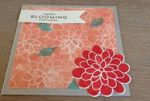 Stampin'Up! Flower / Wat kun je maken met de stampin' Up!  Flower patch set stampin, SU, flowers, bloemen, stempelen,
