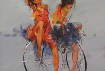 Bisikletli kadınlar