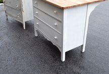 DIY Old dresser into a kitchen island