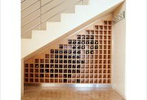 staircase wine rack