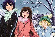 Noragami / ♡ Yato,Yukine and Hiyori ♡