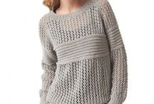 Pullovers and Cardigans / Knitting patterns for lace work pullovers
