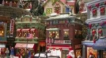 christmas village / create your own Christmas town with twinkling lights, holiday train, people bustling and taking tea....come to our Christmas Tea Soiree, Dec. 24 / by antoinette- tea mistress