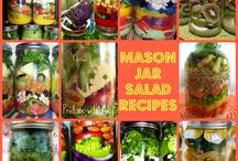 Mason Jar Salads / by Mary Lou Walter Calandrella