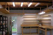 garage storage / shelfing hanging space saving