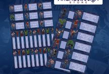 Printable name tags - labels / Etiquetas escolares imprimibles