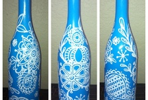 Wine bottle art  / by Mary Simmons